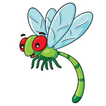 Dessin animé libellule