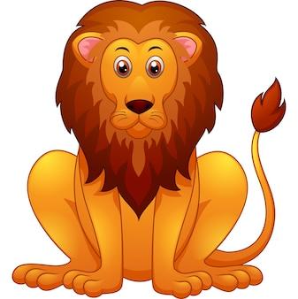 Dessin animé lion mignon