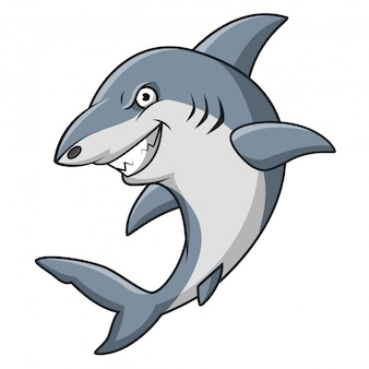 Dessin animé mascotte de requin en colère