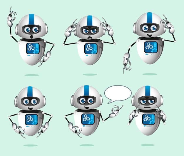 Dessin animé de mascotte de robot