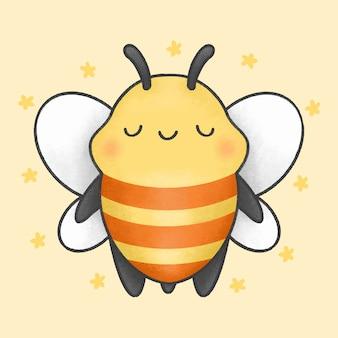 Dessin animé mignon abeille
