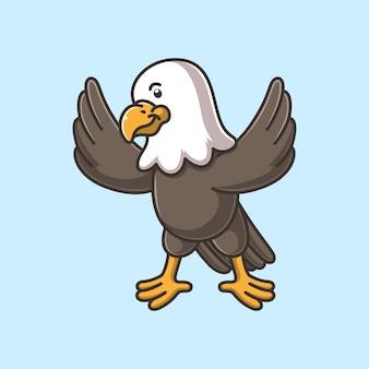 Dessin animé mignon aigle