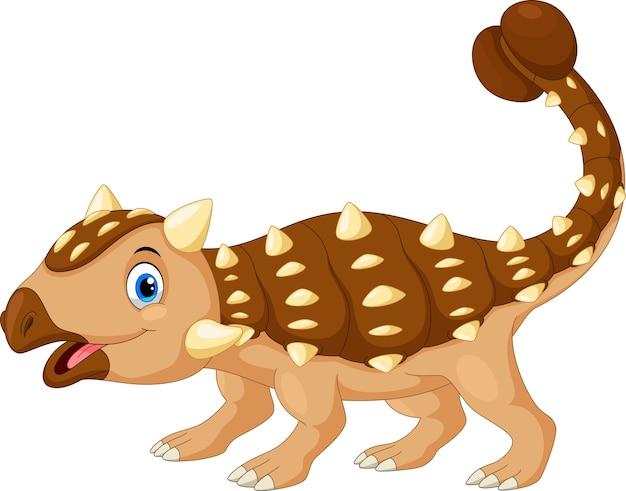 Dessin animé mignon ankylosaurus