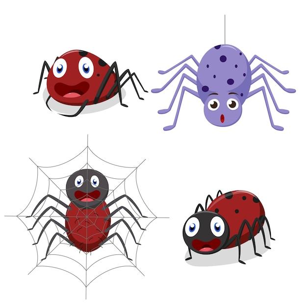 Dessin animé mignon araignée