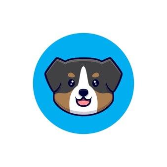 Dessin animé mignon avatar chien berger australien