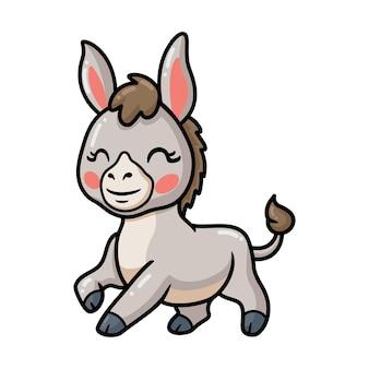 Dessin animé mignon bébé âne posant