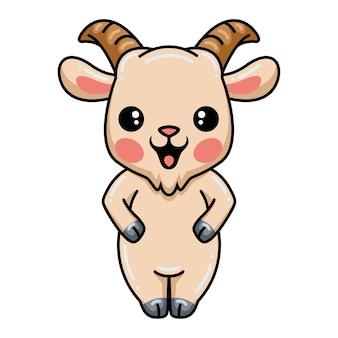 Dessin animé mignon bébé chèvre debout