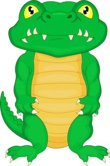 Dessin animé mignon bébé crocodile