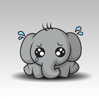 Dessin animé mignon bébé éléphant