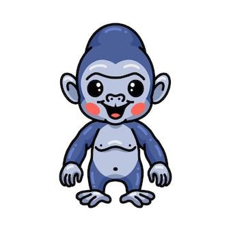 Dessin animé mignon bébé gorille debout