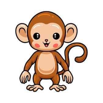 Dessin animé mignon bébé singe debout