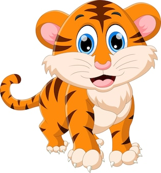 Dessin animé mignon bébé tigre