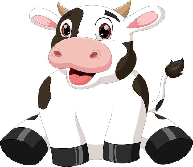 Dessin animé mignon bébé vache