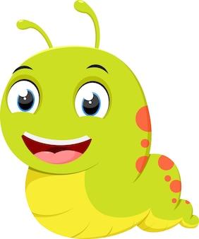 Dessin animé mignon de caterpillar