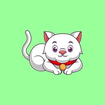Dessin animé mignon de chat
