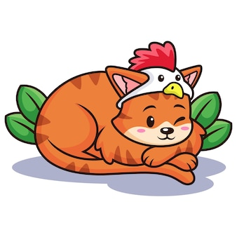 Dessin animé mignon chat