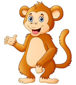 Dessin animé mignon chimpanzé