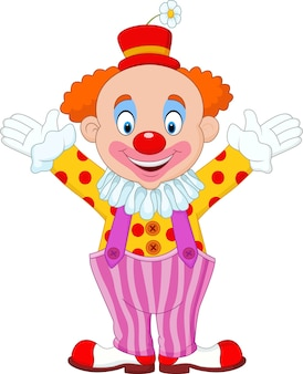Dessin animé mignon de clown