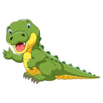 Dessin animé mignon de crocodile