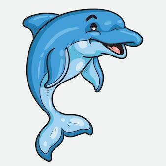 Dessin animé mignon dauphin