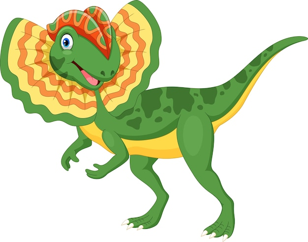 Dessin animé mignon dilophosaurus