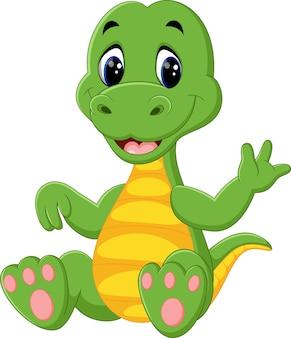 Dessin animé mignon de dinosaures