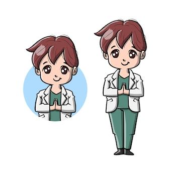 Dessin animé mignon docteur