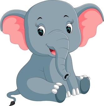 Dessin animé mignon éléphant