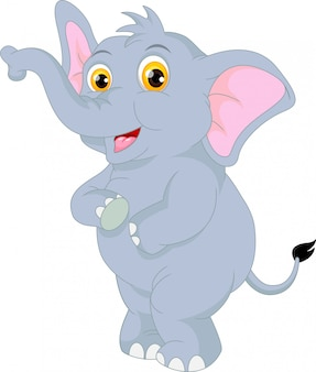 Dessin animé mignon d'éléphant