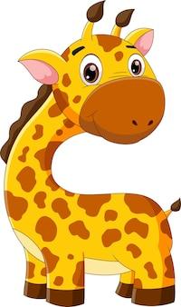 Dessin animé mignon girafe