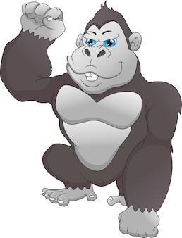 Dessin animé mignon de gorille