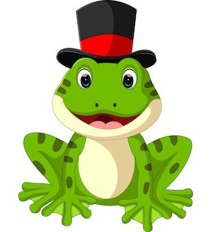 Dessin animé mignon grenouille