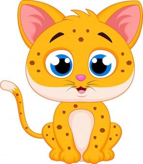 Dessin animé mignon guépard