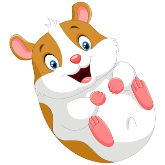 Dessin animé mignon hamster