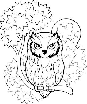 Dessin animé mignon hibou