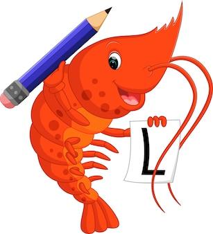 Dessin animé mignon de homard