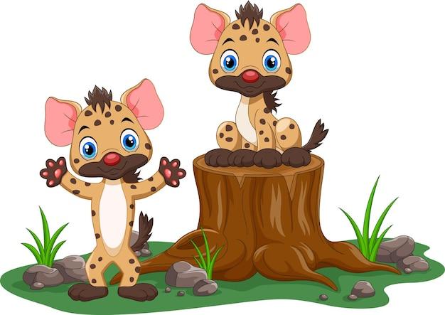 Dessin animé mignon hyène