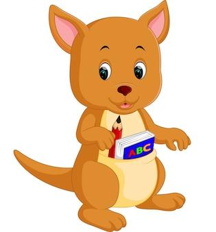 Dessin animé mignon kangourou