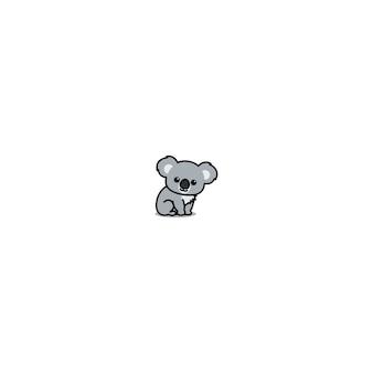 Dessin animé mignon koala assis