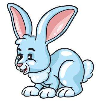 Dessin animé mignon lapin