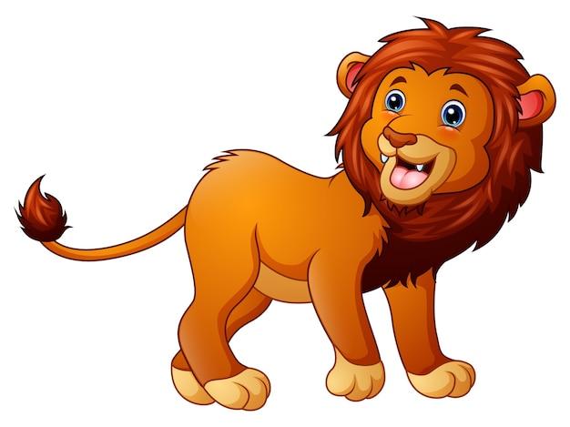 Dessin animé mignon lion