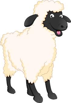 Dessin animé mignon mouton