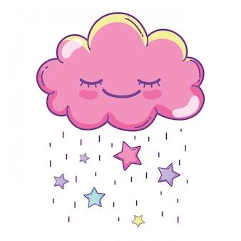 Dessin animé mignon nuage