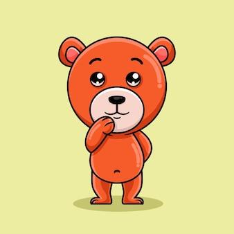 Dessin animé mignon ours debout