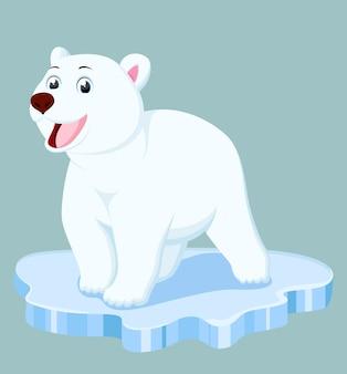 Dessin animé mignon ours polaire
