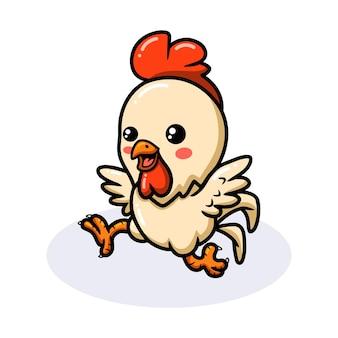 Dessin animé mignon petit coq heureux