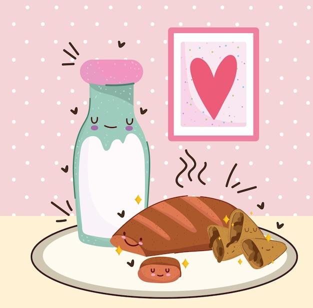 Dessin animé mignon petit déjeuner