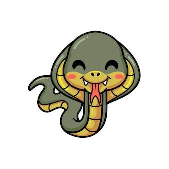 Dessin animé mignon petit serpent cobra