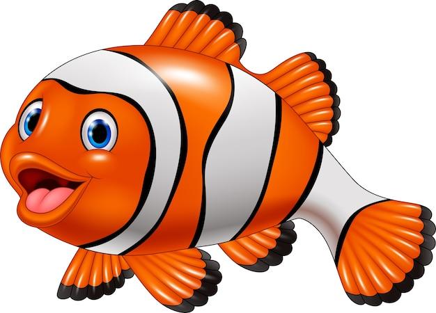 Dessin animé mignon poisson clown
