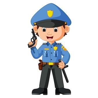 Dessin animé mignon policier